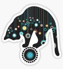 Black Magical Cat Vector Art Sticker