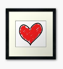 Heart graffiti Framed Print