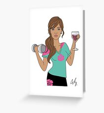 Lift Now Wine Later Greeting Card
