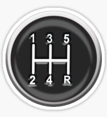 Gear, Knob, Gear shift knob, Stick, Shift, Car, Cars, Motorsport, Motoring, Race, Racing Sticker