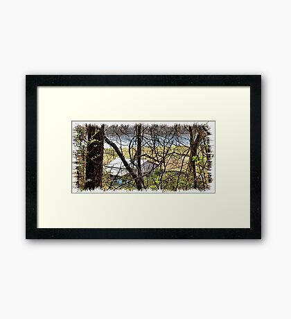 """""""A Sneak Peek of the Old Farm and the Tale Behind It""""... prints and products Framed Print"""