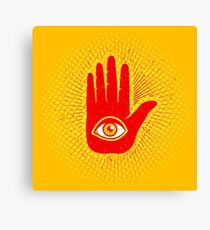 Hand and eye Canvas Print