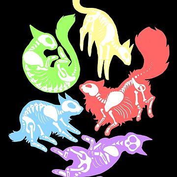 Gruselige Kätzchen in Farbe von CapBadgered