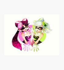 Splatoon: Squid Sisters Kunstdruck