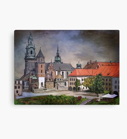Cracow.World Youth Day in 2016. Canvas Print