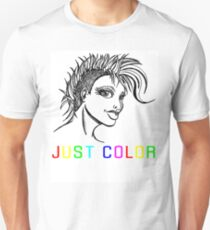 """JUST COLOR - """"Mohawk Girl"""" T-Shirt"""