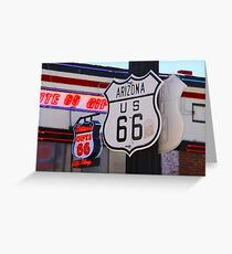 """""""Get Your Kicks on Route 66""""  Greeting Card"""