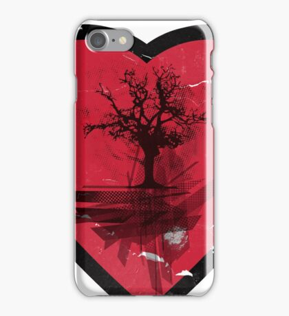Love Nature - Grunge Tree and Heart - Earth Friendly T Shirt iPhone Case/Skin