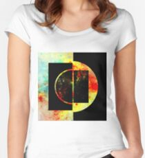 Geometric Space Women's Fitted Scoop T-Shirt