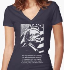 JIMMY CARTER-2 Women's Fitted V-Neck T-Shirt