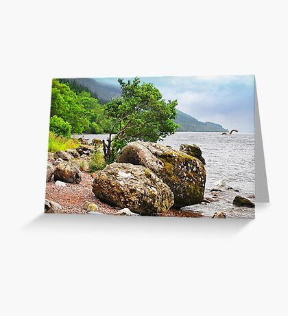 On the shores of Loch Ness - AGAIN Greeting Card