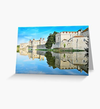 Reflections from a majestic Castle Greeting Card