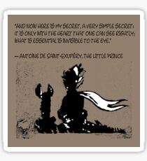 The little prince and the fox - QUOTE - sepia Sticker