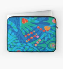 Colorful Tropical Print Abstract Art Mini Skirt in Blue and Green Laptop Sleeve