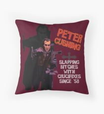 Peter Cushing Throw Pillow