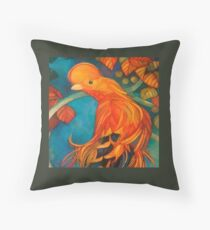 "cock of the rocks ""rupicola rupicola""   Throw Pillow"