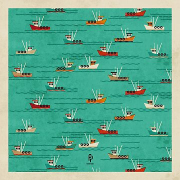 Fishing Trawlers on The Thames Estuary by FendellPosters