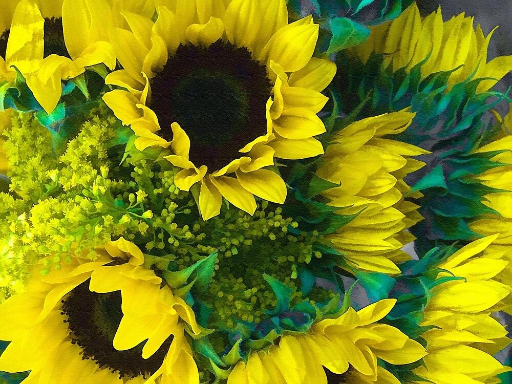 Sun Flowers by Joy  Rector