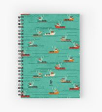 Fishing Trawlers on The Thames Estuary Spiral Notebook