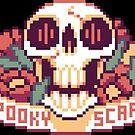 Spooky Scary Pixel Skull by etall