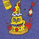 Pizza, Hot Sauce & Beer by jumpy