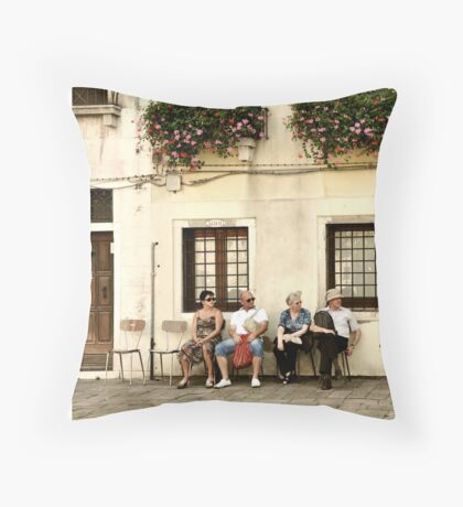 Two empty chairs Throw Pillow