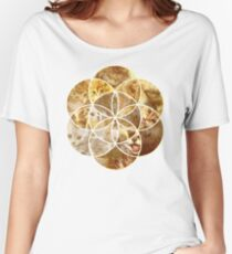 Kitten Geometric collage Women's Relaxed Fit T-Shirt