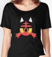 Pokemon Sun / Moon Litten New  Women's Relaxed Fit T-Shirt