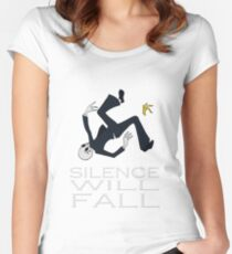 Silence Will Fall Women's Fitted Scoop T-Shirt