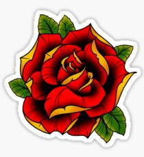 Neotraditional Rose in Red Sticker