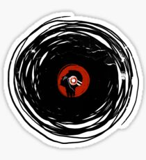 I'm spinning within with a vinyl record... GRUNGE TEXTURE Sticker
