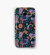 Pastel Blue Tones Vintage Orante Floral Paisley Pattern Samsung Galaxy Case/Skin
