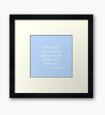 The things that make me different Framed Print