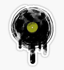 Green Melting Vinyl Records Vintage  Sticker