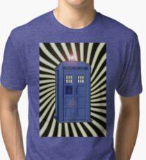 TARDIS CLASSIC VORTEX 1 Tri-blend T-Shirt