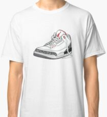 "Air Jordan 3 (III) ""WHITE & CEMENT"" Classic T-Shirt"