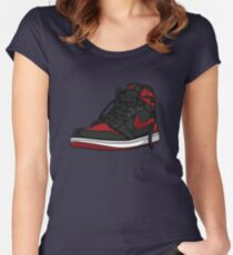 "Air Jordan 1 ""BRED"" Women's Fitted Scoop T-Shirt"