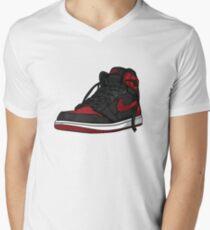 """Air Jordan 1 """"BRED"""" Men's V-Neck T-Shirt"""