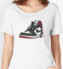"Air Jordan 1 ""BLACK TOE"" Women's Relaxed Fit T-Shirt"