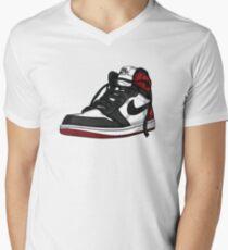 "Air Jordan 1 ""BLACK TOE"" Men's V-Neck T-Shirt"