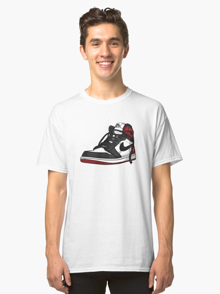 """Air Jordan 1 """"BLACK TOE"""" Classic T-Shirt Front"""