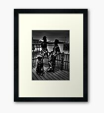 Sculptures At Mermaid Quay Cardiff Wales Framed Print