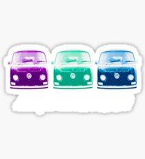 Lowlights are BETTER!! Kombi Shirt - Purple, Green, Blue Sticker