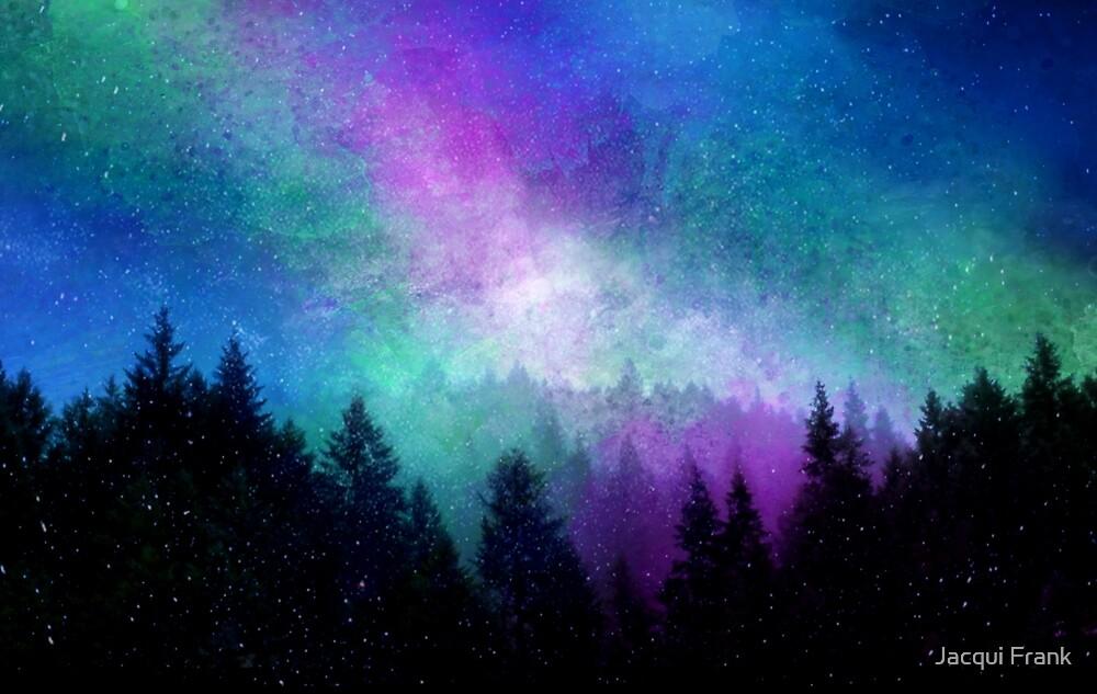 Aurora Borealis Night Sky by Jacqui Frank