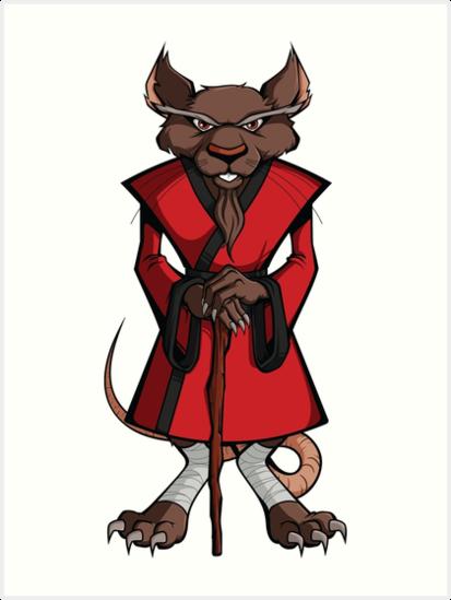 L minas art sticas tmnt master splinter de rsands redbubble - Maitre rat tortue ninja ...