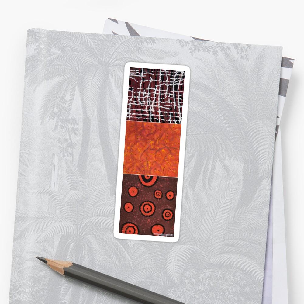 Orangeshed triptych part a, b & c Sticker