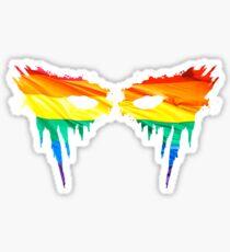 Commander Lexa Rainbow Warpaint Sticker