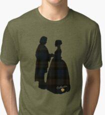 Outlander/Plaid silhouettes Tri-blend T-Shirt