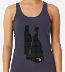 Outlander/Plaid silhouettes Women's Tank Top