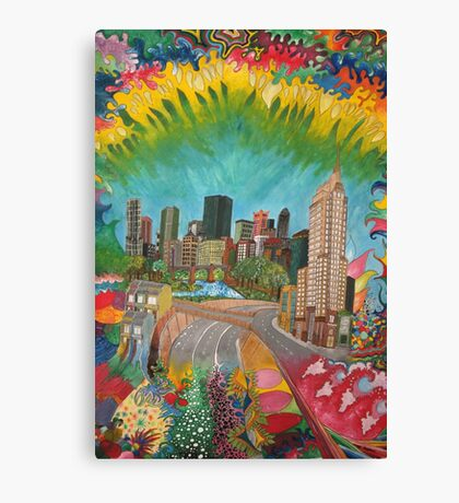 City - vivid Canvas Print